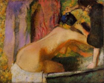 Edgar Degas : Woman at Her Bath