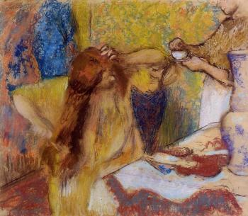 Edgar Degas : Woman at Her Toilette II