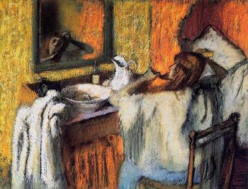 Edgar Degas : Woman at Her Toilette III