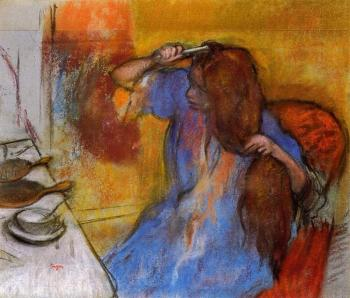 Edgar Degas : Woman Brushing Her Hair