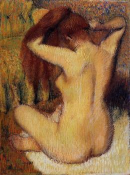 Edgar Degas : Woman Combing Her Hair II