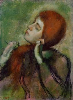 Edgar Degas : Woman Combing Her Hair III