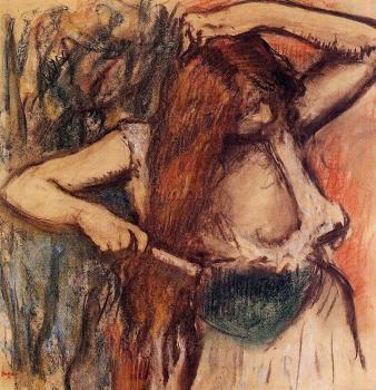 Edgar Degas : Woman Combing Her Hair IV