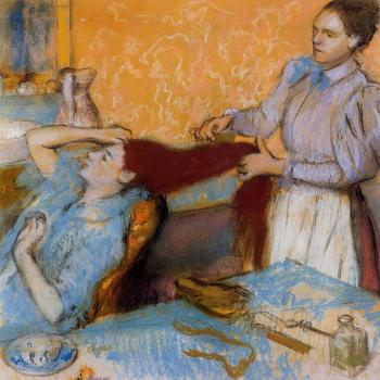 Edgar Degas : Woman Having Her Hair Combed II