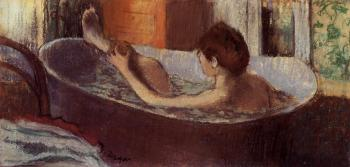 Edgar Degas : Woman in a Bath Sponging Her Leg