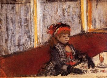 Edgar Degas : Woman in a Cafe