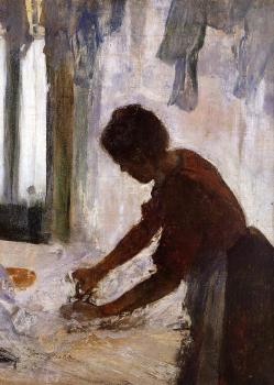 Edgar Degas : Woman Ironing III