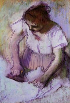 Edgar Degas : Woman Ironing IV