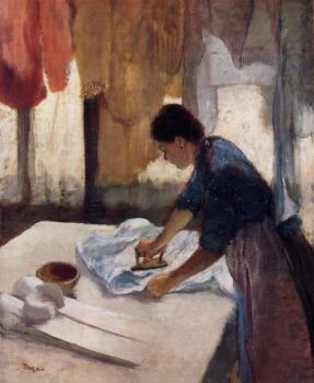 Edgar Degas : Woman Ironing V