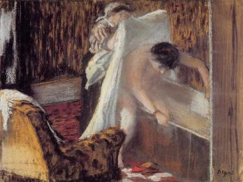 Edgar Degas : Woman Leaving Her Bath