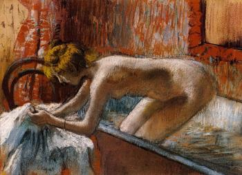 Edgar Degas : Woman Leaving Her Bath II