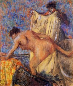Edgar Degas : Woman Leaving Her Bath III