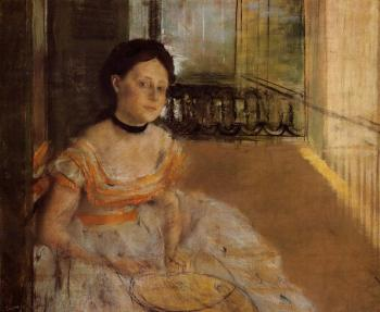 Edgar Degas : Woman Seated on a Balcony