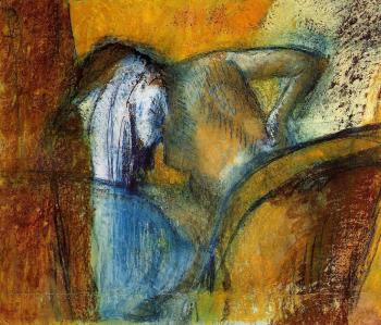 Edgar Degas : Woman Seen from Behind, Drying Hair