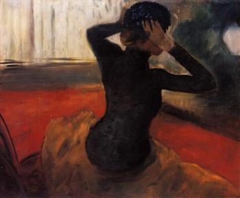 Edgar Degas : Woman Trying on a Hat