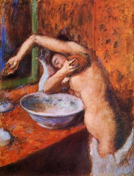 Edgar Degas : Woman Washing Herself