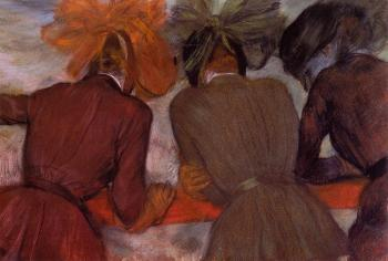 Edgar Degas : Women Leaning on a Railing