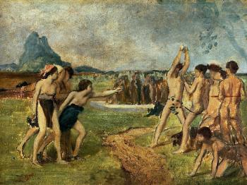 Edgar Degas : Young Spartans Exercising