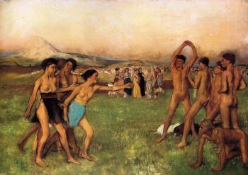 Edgar Degas : Young Spartans
