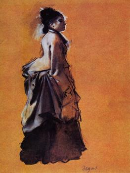 Edgar Degas : Young Woman in Street Dress