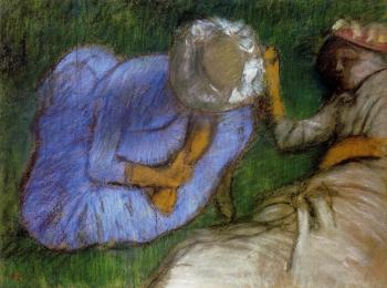 Edgar Degas : Young Women Resting in a Field