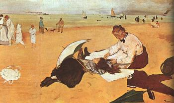 Edgar Degas : At the Beach