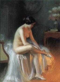 Delphin Enjolras : A nude by firelight
