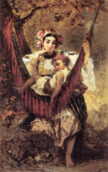 Narcisse-Virgile Diaz De La Pena : Mother and Child