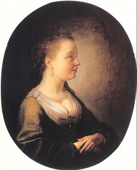 Gerrit Dou : Portrait of a Young Woman