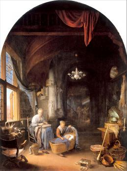 Gerrit Dou : The Young Mother