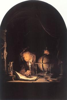 Gerrit Dou : Astronomer by Candlelight