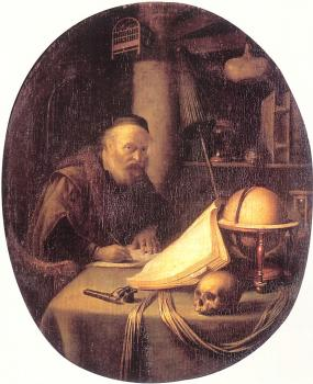 Gerrit Dou : Man Interrupted at His Writing
