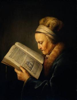 Old Woman Reading a Lectionary