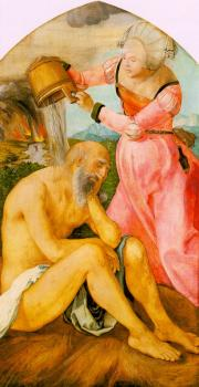 Albrecht Durer : Job and His Wife