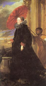 Anthony Van Dyck : Portrait of Marchesa Elena Grimaldi, wife of Marchese Nicola Cattaneo