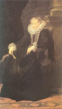 Anthony Van Dyck : Portrait of a Genovese Lady