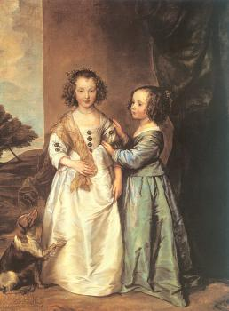 Anthony Van Dyck : Portrait of Elizabeth and Philadelphia Wharton