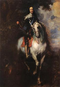 Anthony Van Dyck : Equestrian Portrait of Charles I, King of England