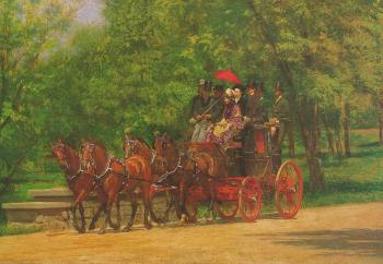Thomas Eakins : A May Morning in the Park (The Fairman Rogers Four-in-Hand)