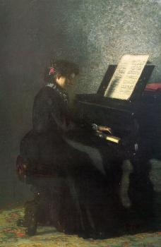 Thomas Eakins : Elizabeth at the Piano