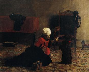 Thomas Eakins : Elizabeth Crowell with a Dog