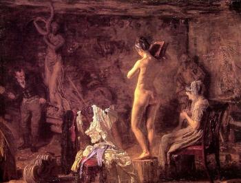 Thomas Eakins : William Rush Carving his Allegorical Figure of the Schuylkil