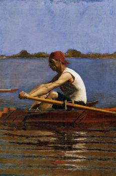 Thomas Eakins : John Biglin in a Single Scull II