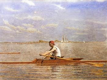 Thomas Eakins : John Biglin in a Single Scull III