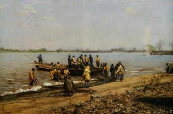 Thomas Eakins : Shad Fishing at Gloucester on the Delaware River II