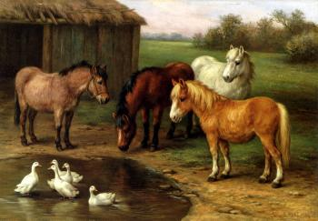 Ponies By A Pond