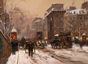 Porte St Martin, Winter