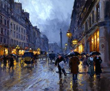 Rue de la Paix, Place Vendome in the Rain