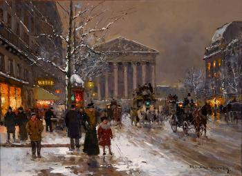 Edouard Cortes : Rue Royale, Winter