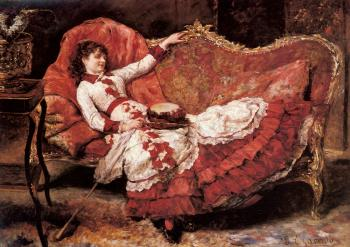 Eduardo Leon Garrido : An Elegant Lady In A Red Dress
